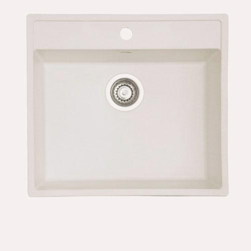 Image of   Acrysil Aqua B hvid. Core/ Corian planlimet køkkenvask