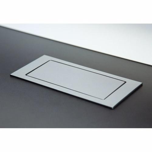 Image of   Backflip stikkontakt til bordplade - rustfri stål