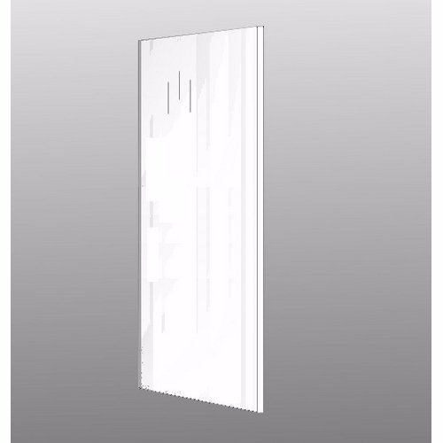 Image of   Gavlafdækning Hvid højglans malet 195.2x60cm