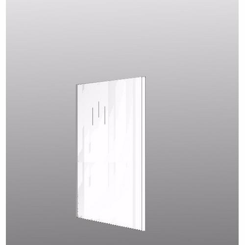 Image of   Integrerbar skabsgavl Hvid højglans malet 131.2x58cm