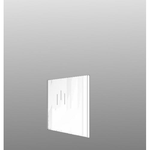 Integrerbar skabsgavl Hvid højglans folie 32x32cm
