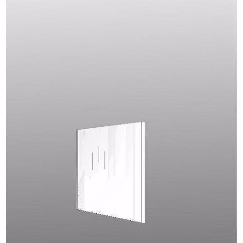 Image of   Integrerbar skabsgavl 32 x 32 cm Hvid malet front