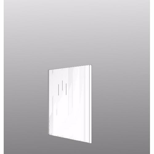 Image of   Integrerbar skabsgavl Hvid højglans malet 70.4x58cm