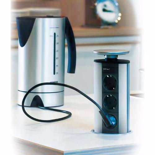 Image of   PowerPort eltårn - 2 x DK-stik + 2 x USB