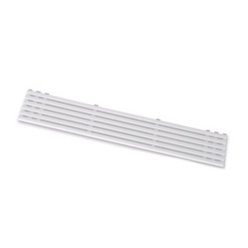 Billede af Ventilationsrist. 60 x 10cm. Hvid plast