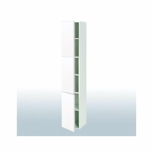 Hvid front højskab med 3 låger b: 40 cm - Høj- og Overskabe - hvid front