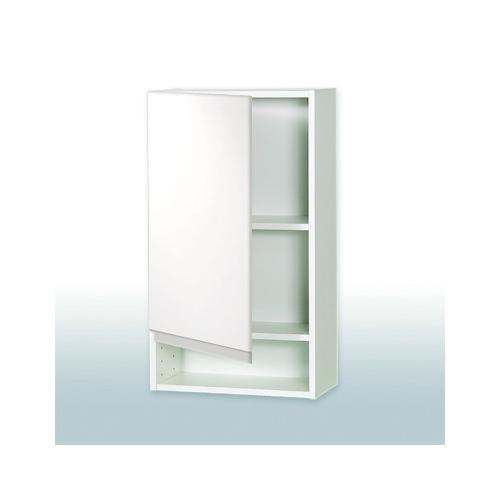 Overskab 30 cm til Hvid Højglans Grebsfrit Badeværelsesskab
