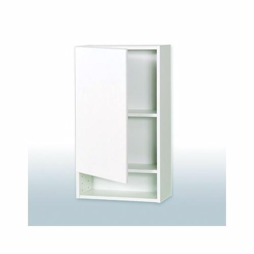 Hvid Front overskab H: 70,4 cm D: 19,3 cm - Synlig hylde - Bredde: 30 cm