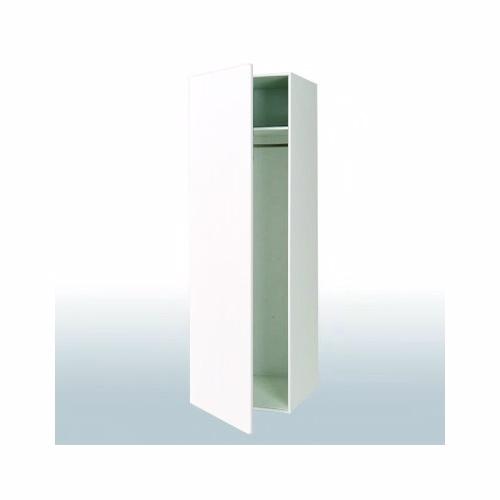 Hvid front bøjleskab: b: 40 cm. med 1 låge - Garderobe - hvid front