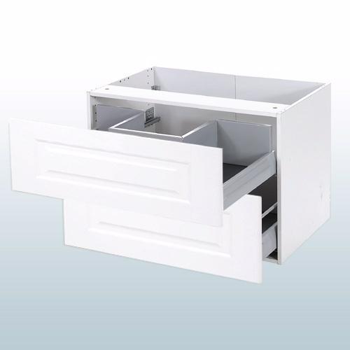 Romantik vaskeskab med fuldudtræk/softluk b: 100 cm d: 44,5 cm