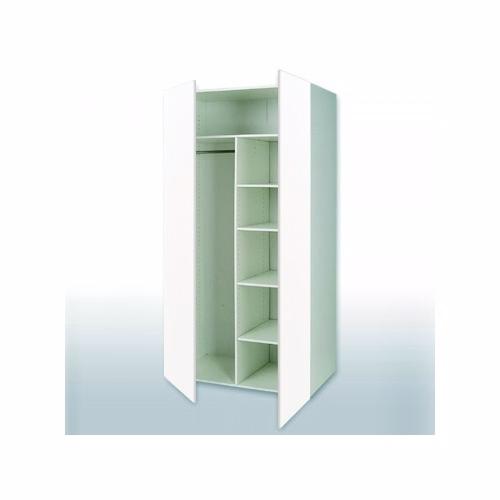 Hvid front combiskab: b: 80 cm. med 2 låger - Garderobe - hvid front