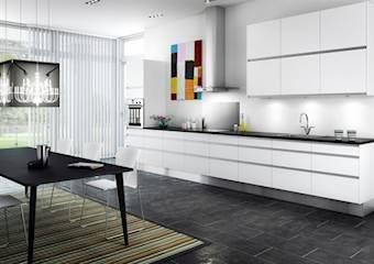 Køkken i Hvid Højglans 16mm