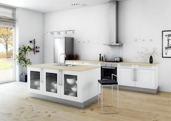 Køkken i Hvid Rammelåge