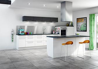 Køkken i Hvid Struktur