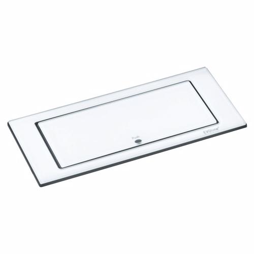 Image of   Backflip stikkontakt til bordplade - hvid glas
