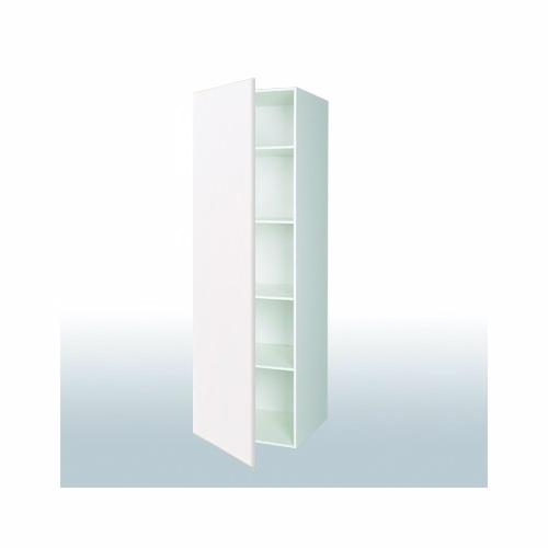 Hvid front hyldeskab: b: 60 cm. med 1 låge - Garderobe - hvid front