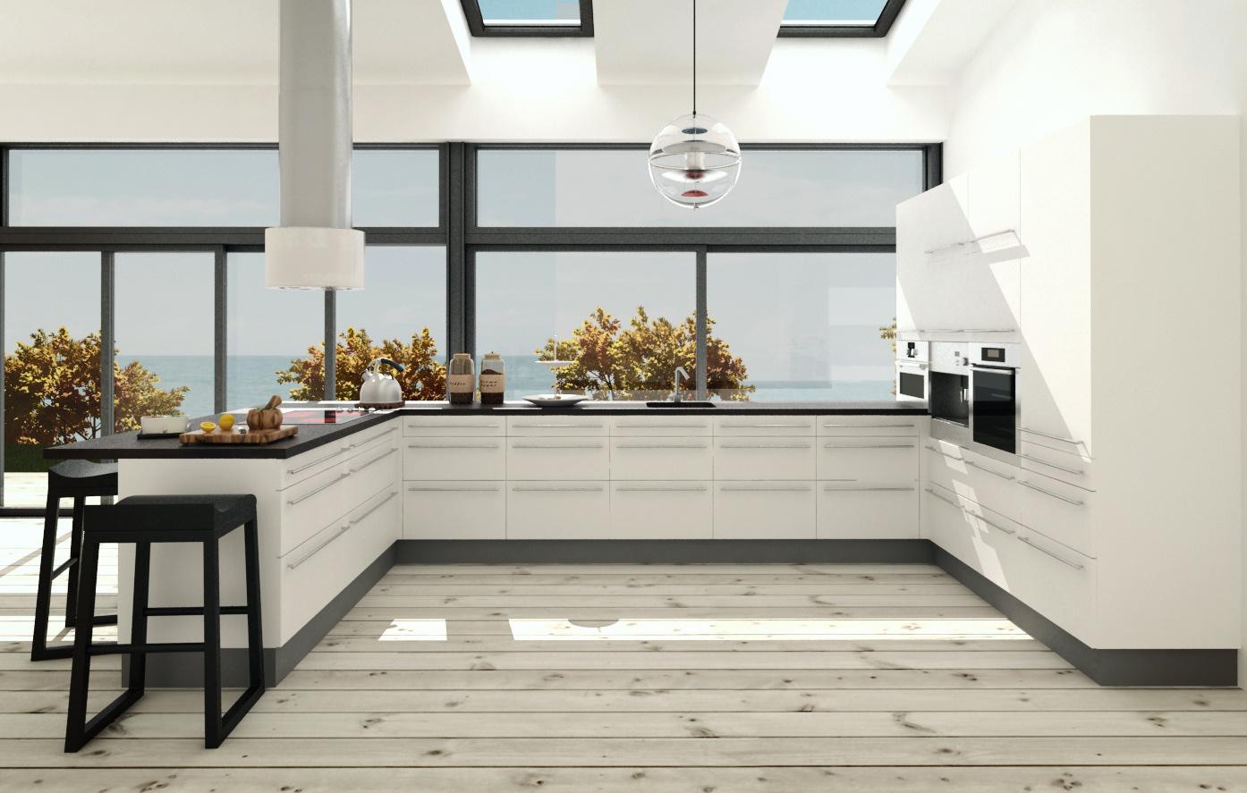 Køkkenskabe med hvid front. stort udvalg af skabe med hvid front