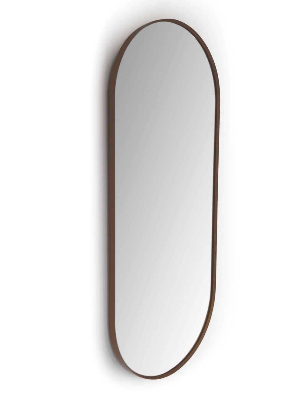 Argo Oval Black - 90 cm x 38 cm - Spejle