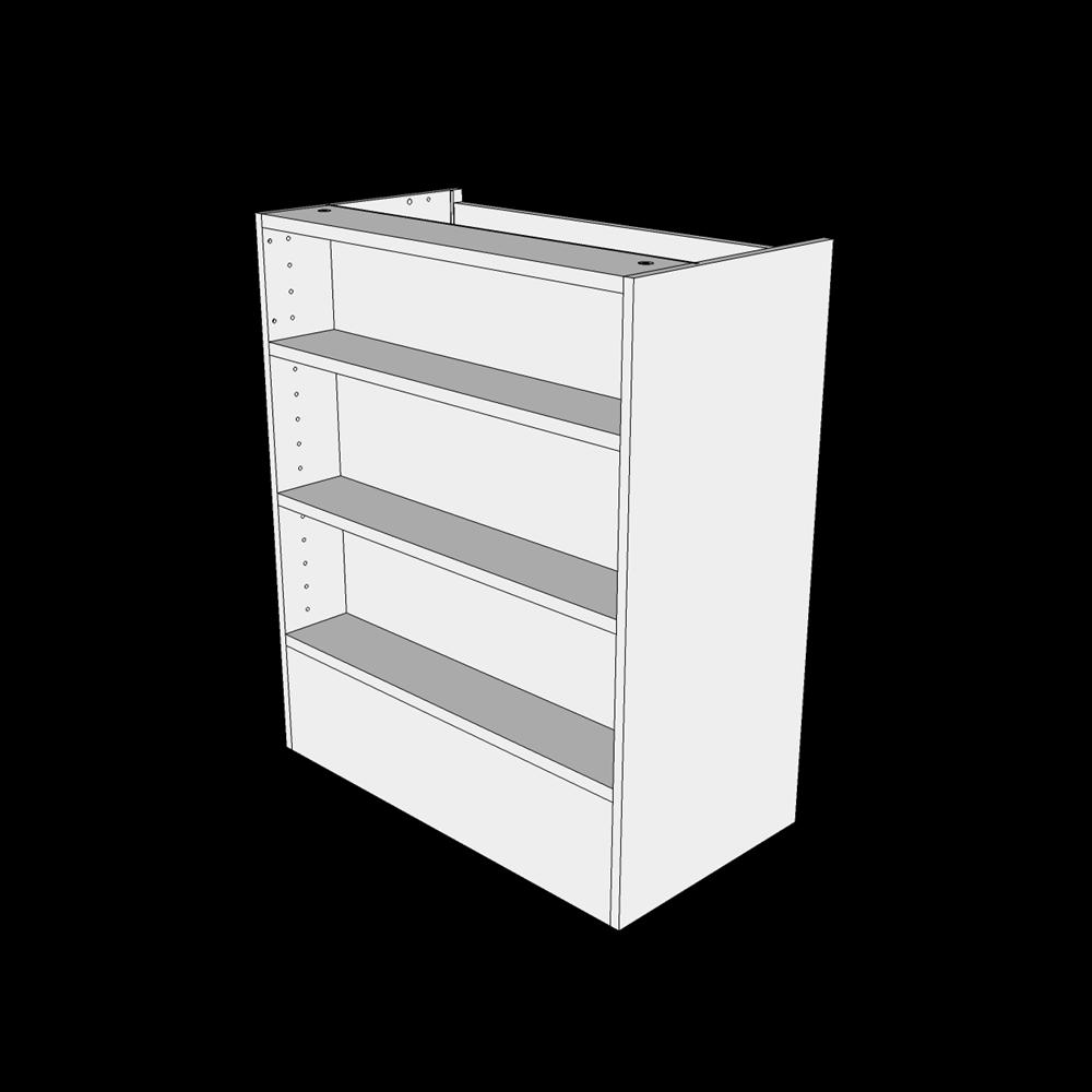 Image of   Emhættereol overskab H: 70,4 cm D: 34,0 cm - Inklusiv 2 hylder & fast bund