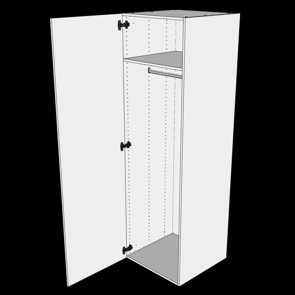 Image of   Bøjle/Højskab H: 195,2 cm D: 60,0 cm - Inklusiv 1 hylde samt 1 oval bøjlestang