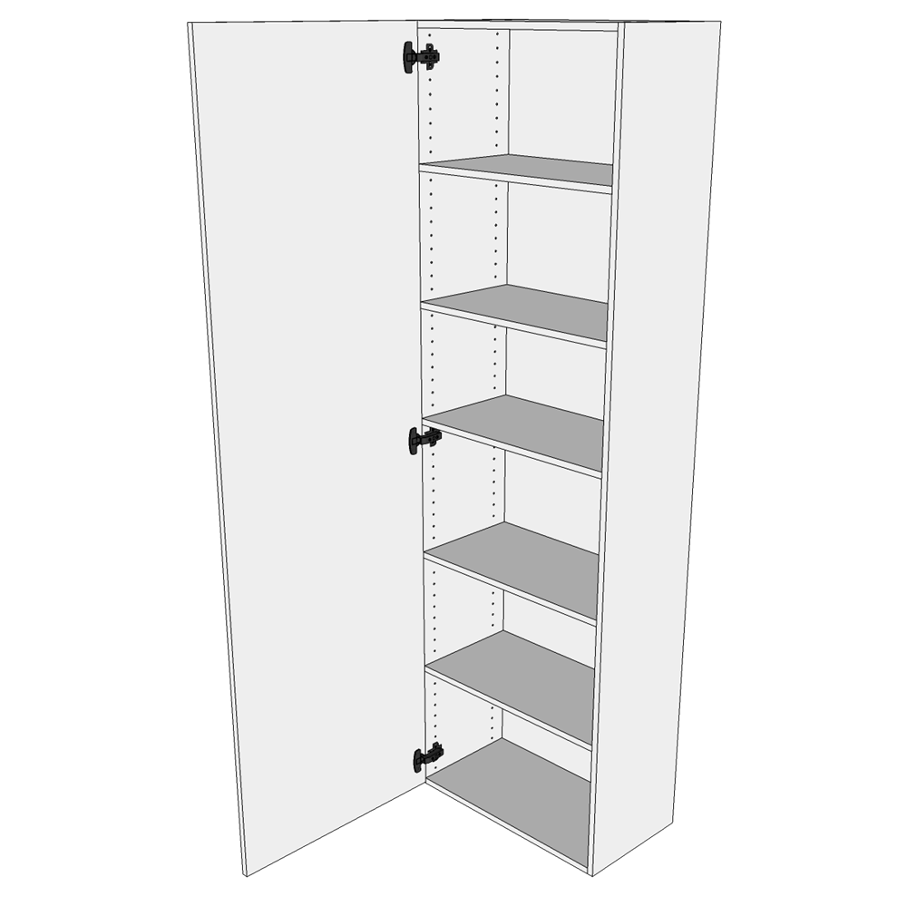 Tilpasningsskab H: 195,2 cm D: 34,0 cm - Inklusiv 5 hylder