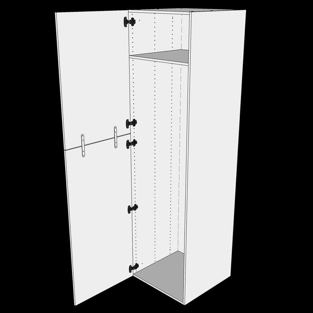 Image of   Ekstra højt tomt skab H: 214,4 cm D: 60,0 cm - 2-delt låge