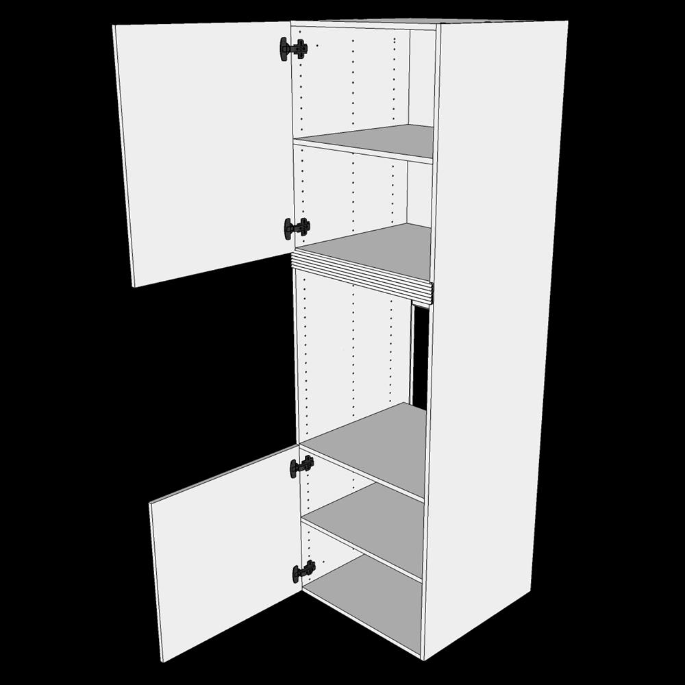Image of   Indbygningsskab til ovn H: 195,2 cm D: 60,0 cm - 2 låger