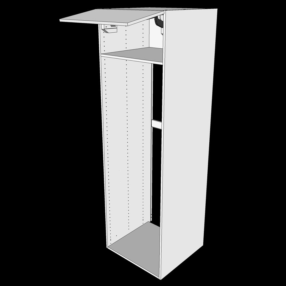 Image of   Indbygningsskab til køl H: 195,2 cm D: 60,0 cm - Toplåge