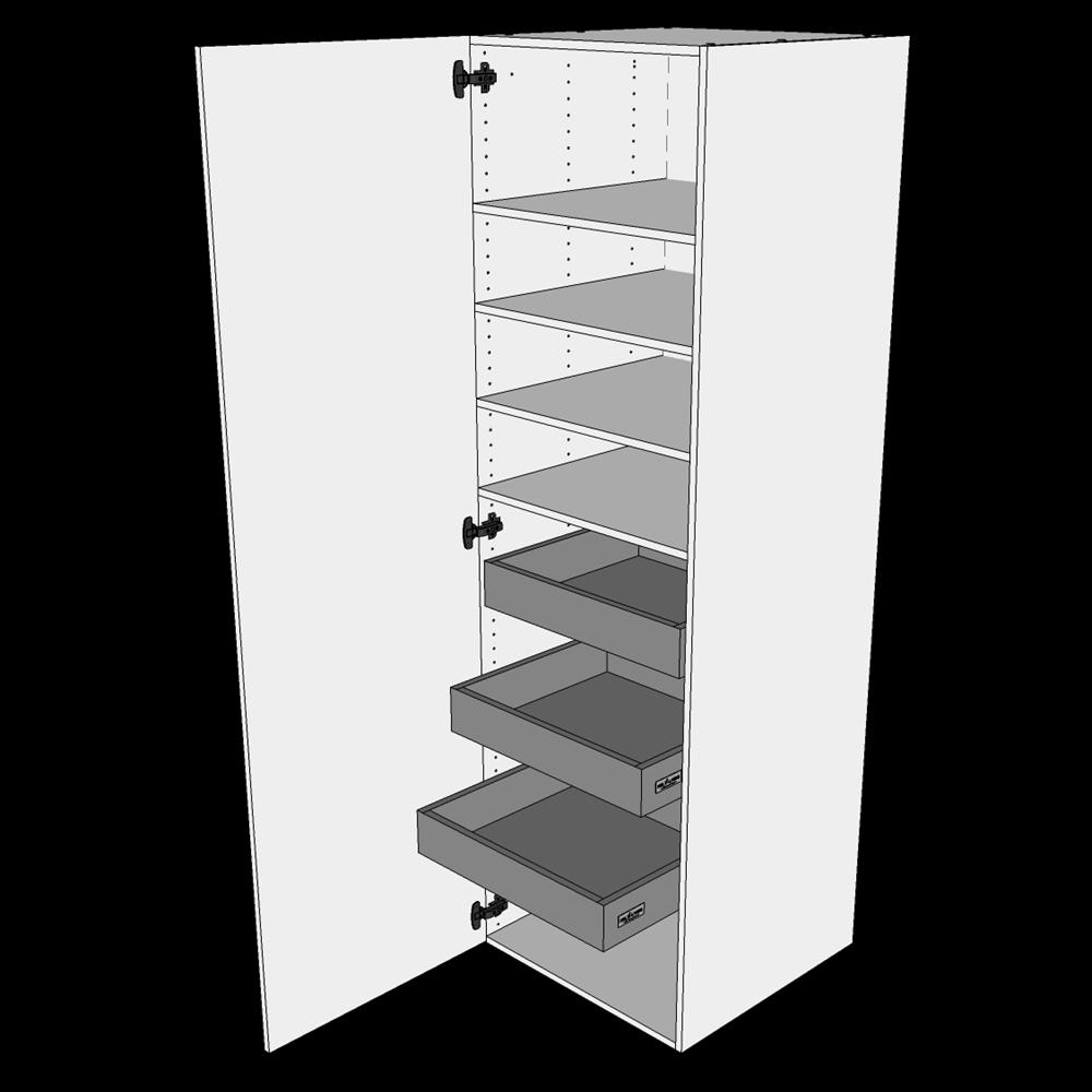 Image of   Linnedskab H: 195,2 cm D: 60,0 cm - Inklusiv 4 hylder samt 3 bakker