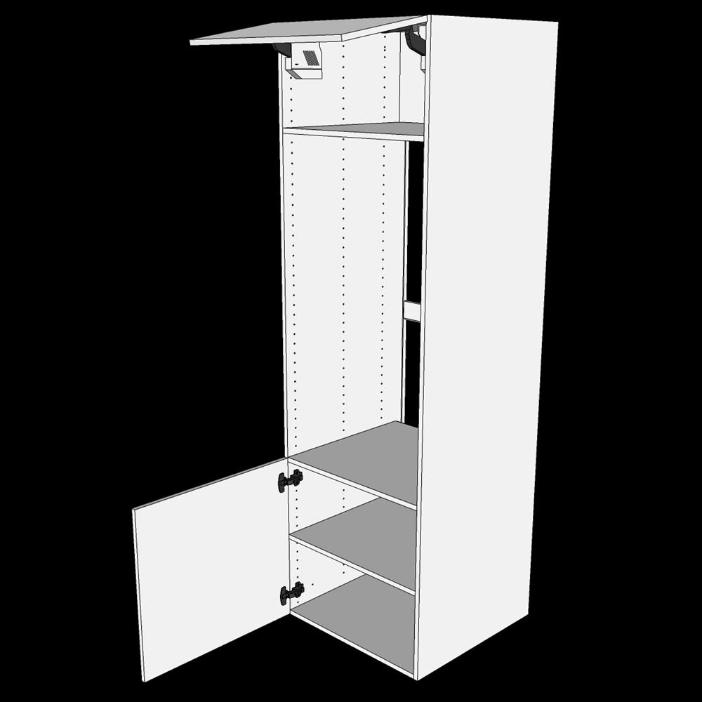Image of   Indbygningsskab til ovn H: 195,2 cm D: 60,0 cm - Toplåger & hyldeskab
