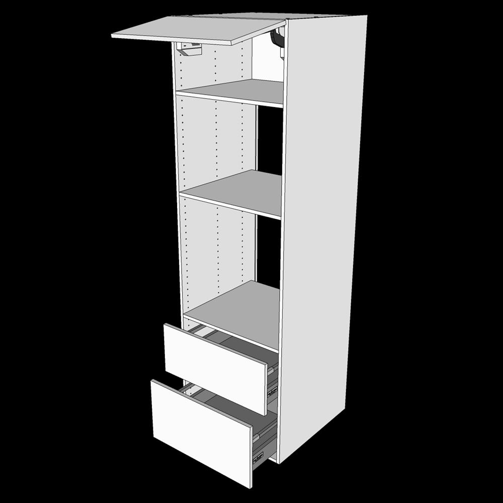 Image of   Indbygningsskab til ovn H: 195,2 cm D: 60,0 cm - Deludtræk/softluk