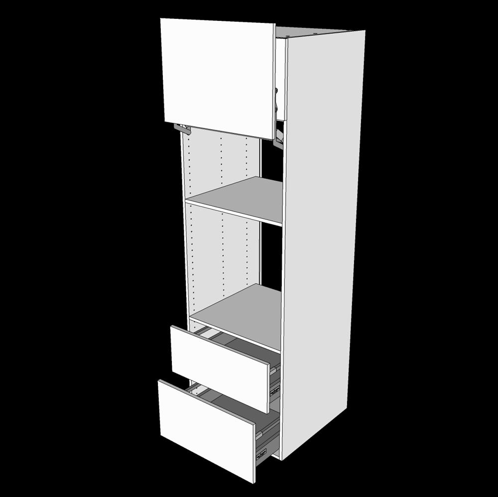 Image of   Indbygningsskab til ovn/skjult micro H: 195,2 cm D: 60,0 cm - Fuldudtræk/softluk