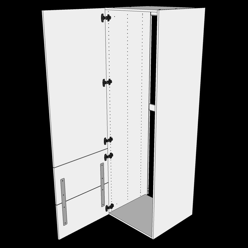 Image of   Indbygningsskab til køl H: 195,2 cm D: 60,0 cm - 2-delt låge med skuffe look