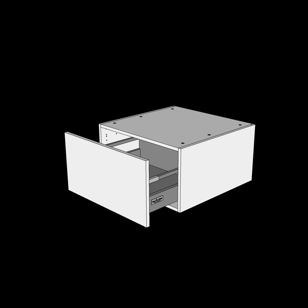 Image of   Skuffekassette H: 32,0 cm D: 60,0 cm - Deludtræk/softluk