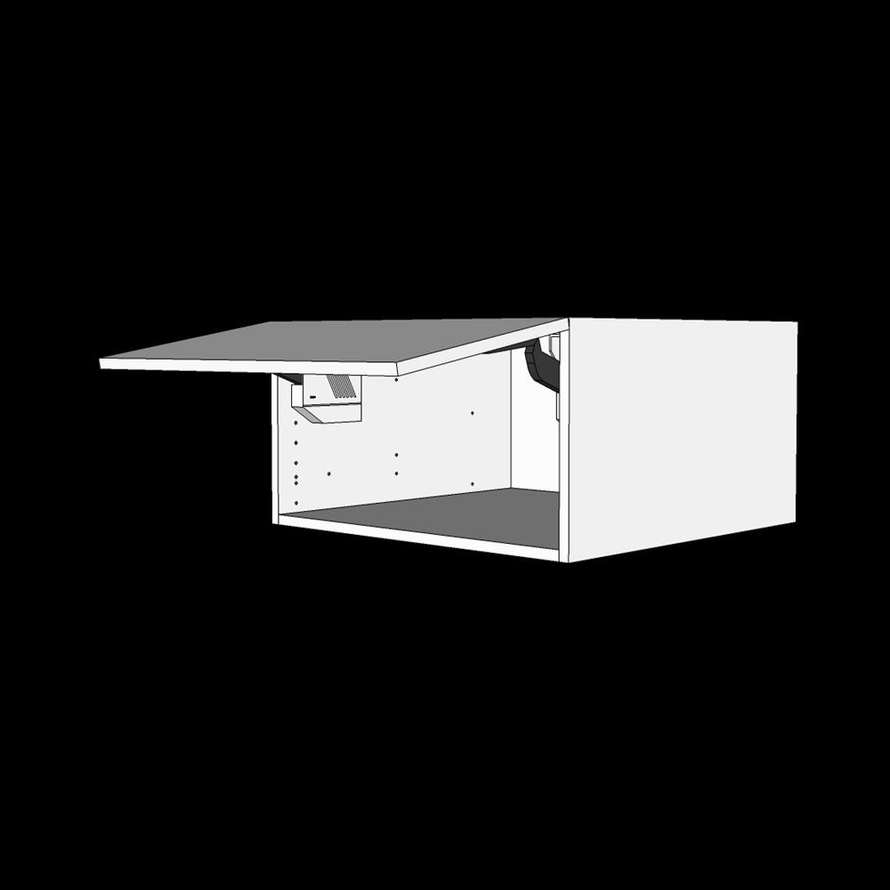 Toplågekassette H: 32,0 cm D: 60,0 cm - 1 låge