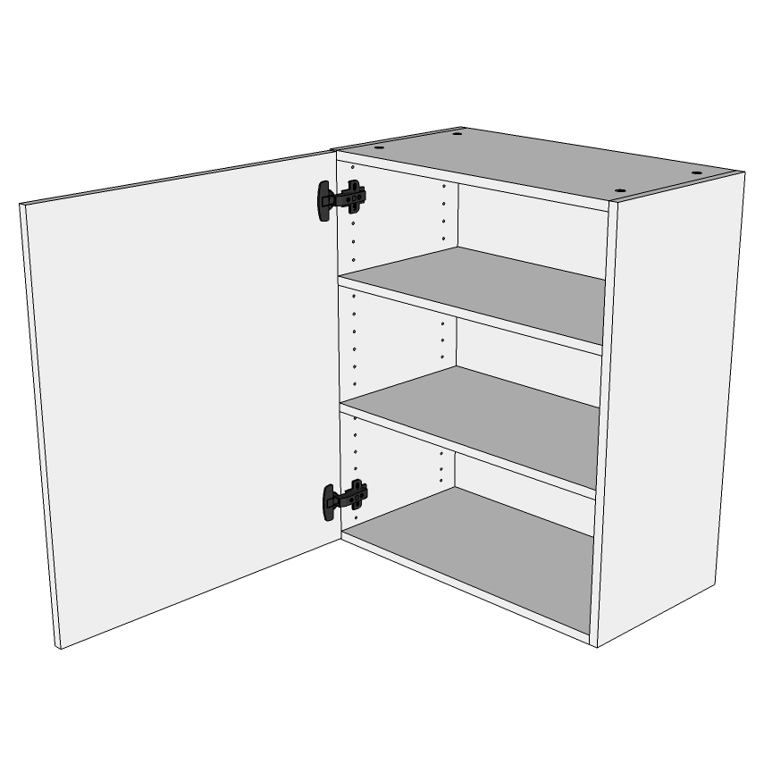 Image of   Hyldeskab H: 89,6 cm D: 34,0 cm - Inklusiv 2 hylde