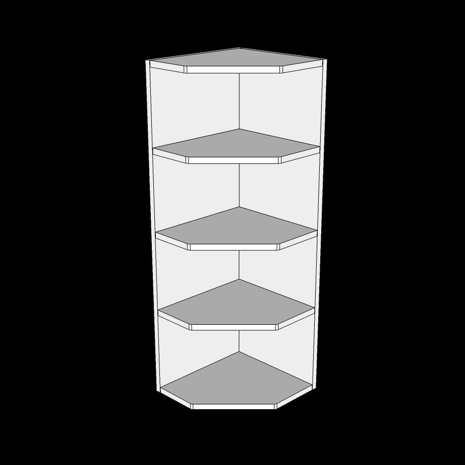 Image of   Afslutningsreol høj H: 89,6 cm D: 32 cm - Inklusiv ophængningslister