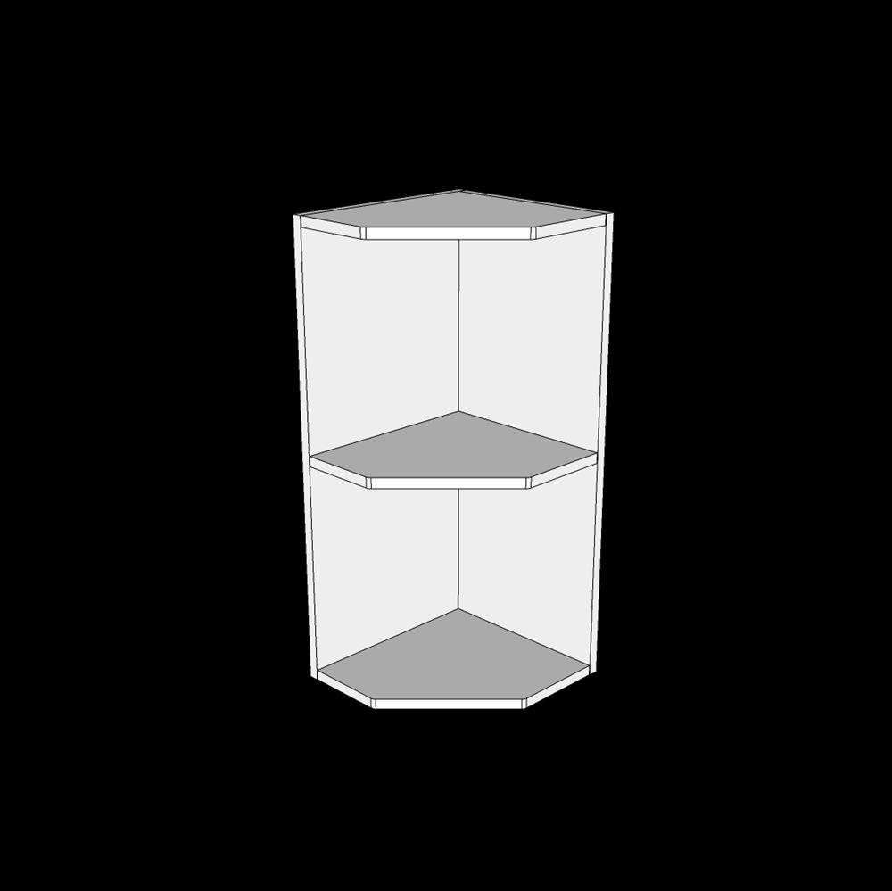 Image of   Afslutningsreol overskabe H: 70,4 cm D: 32,0 cm - Inklusiv 1 fast hylde