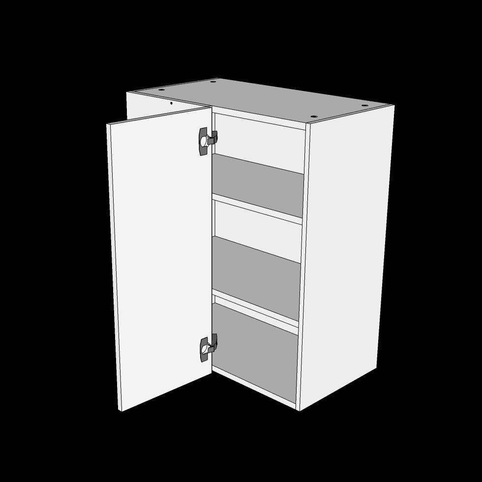 Image of   Over/hjørneskab H: 70,4 cm D: 34,0 cm - Inklusiv 2 hylder