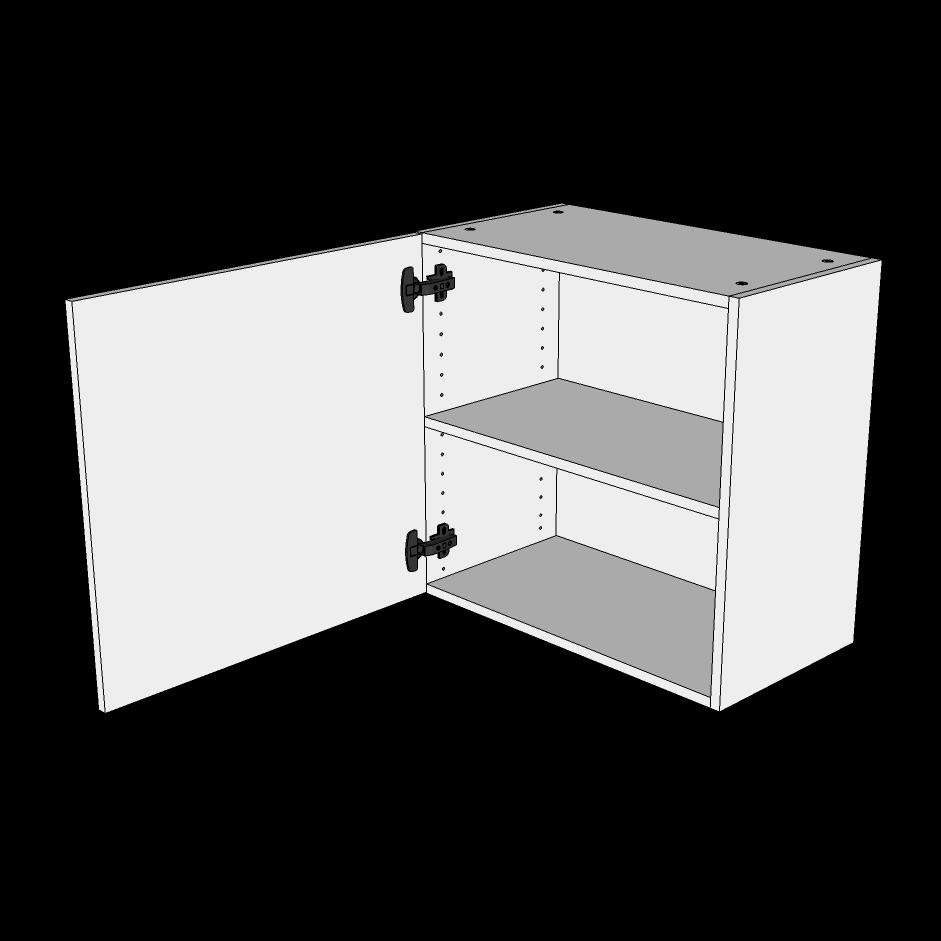 Image of   Overskab lav H: 57,6 cm D: 34,0 cm - 1 låge inklusiv 1 hylde