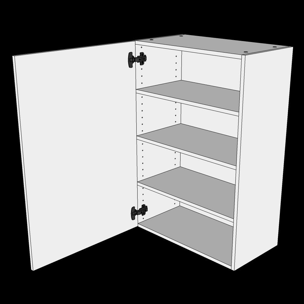 Image of   Overskab høj H: 89,6 cm D: 34,0 cm - 1 låge inklusiv 3 hylder