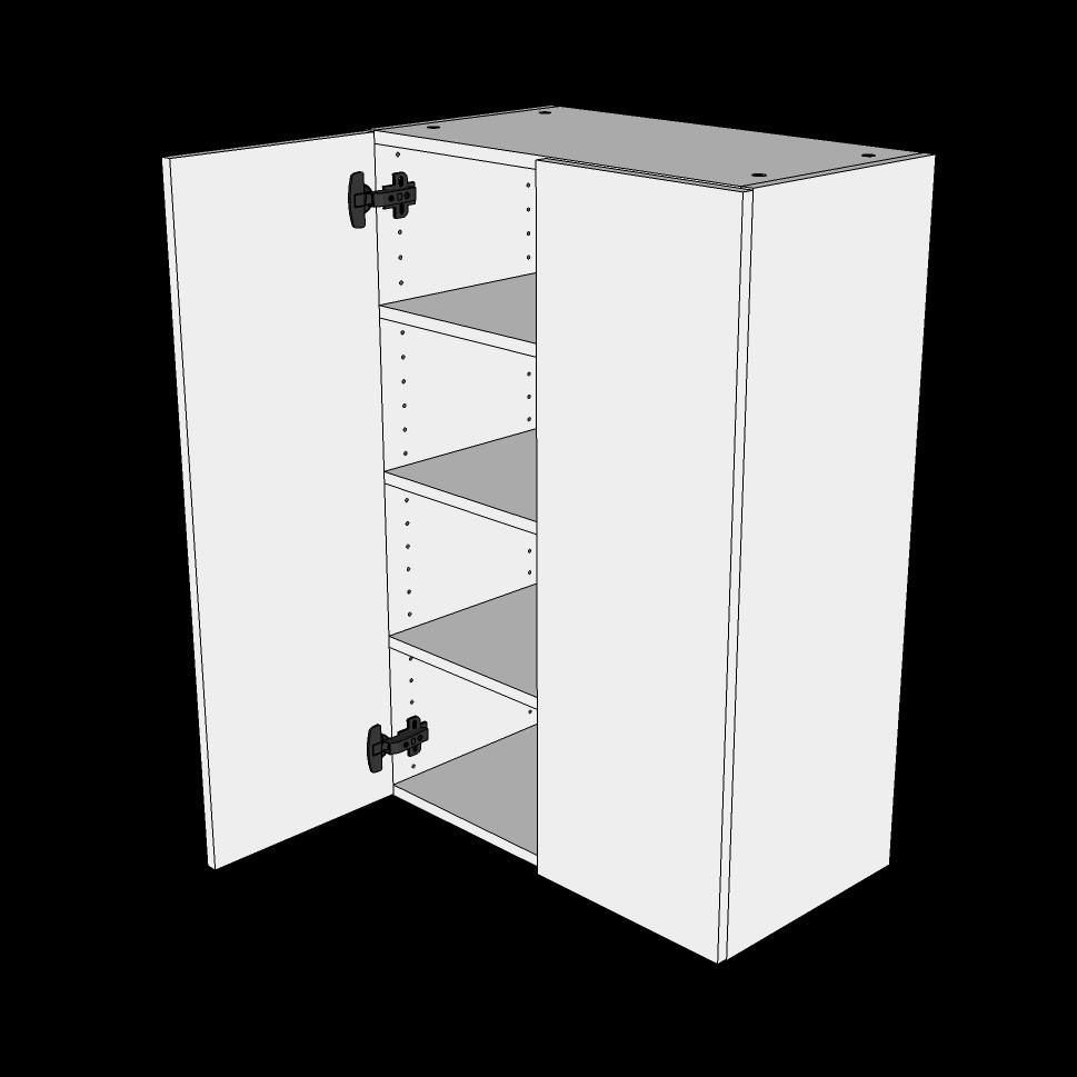 Image of   Overskab høj H: 89,6 cm D: 34,0 cm - 2 låger inklusiv 3 hylder