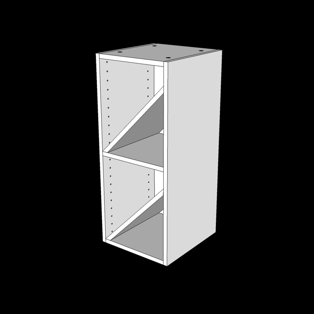 Vinreol H: 70,4 cm D: 32 cm - Åben overskab