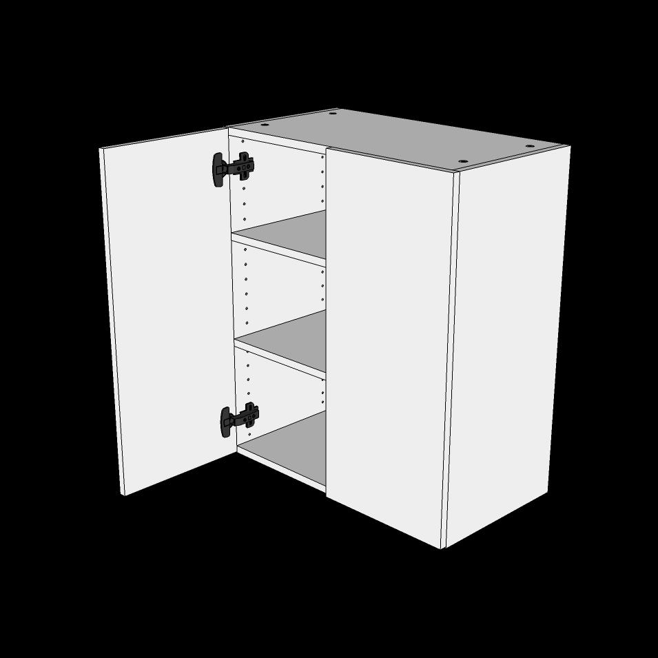Image of   Overskab H: 70,4 cm D: 34,0 cm - Hyldeskab 2 låger