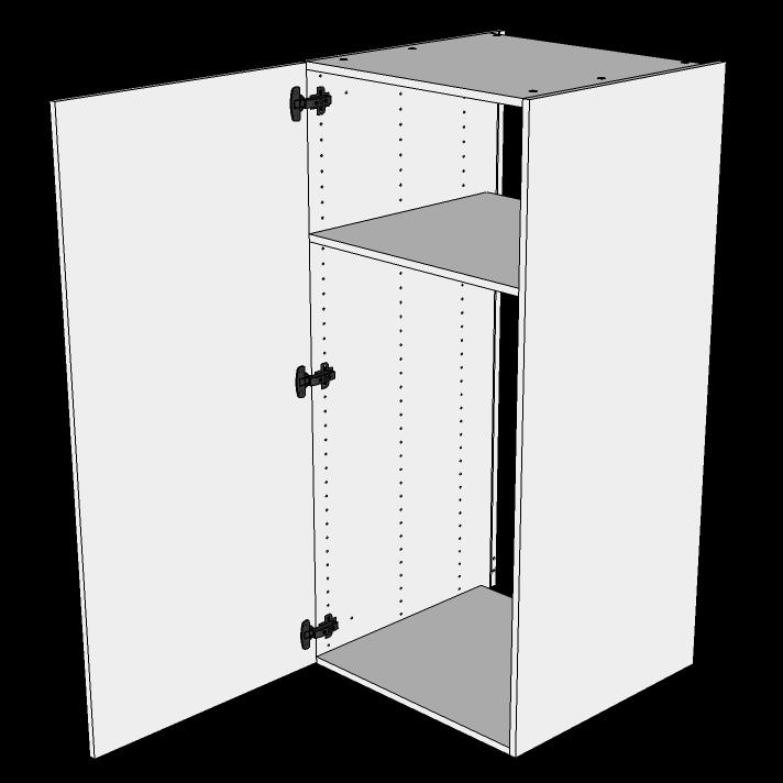 Image of   Indbygningsskab til køl H: 131,2 cm D: 60,0 cm - 1 låge inklusiv 1 hylde