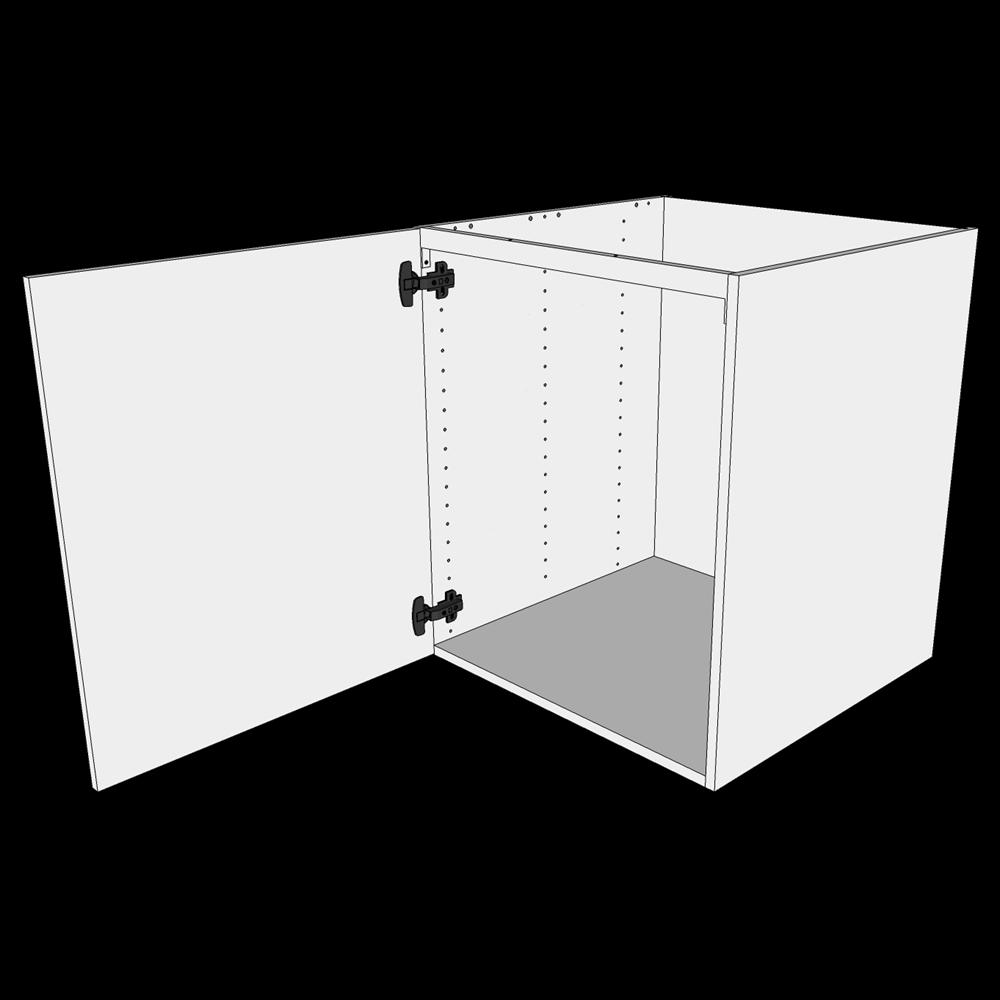 Vaskeskab H: 70,4 cm D: 60,0 cm - Inklusiv affaldsstativ