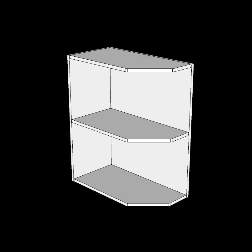 Image of   Afslutningsreol underskabe H: 70,4 cm D: 58,0 cm - Inklusiv 1 fast hylde