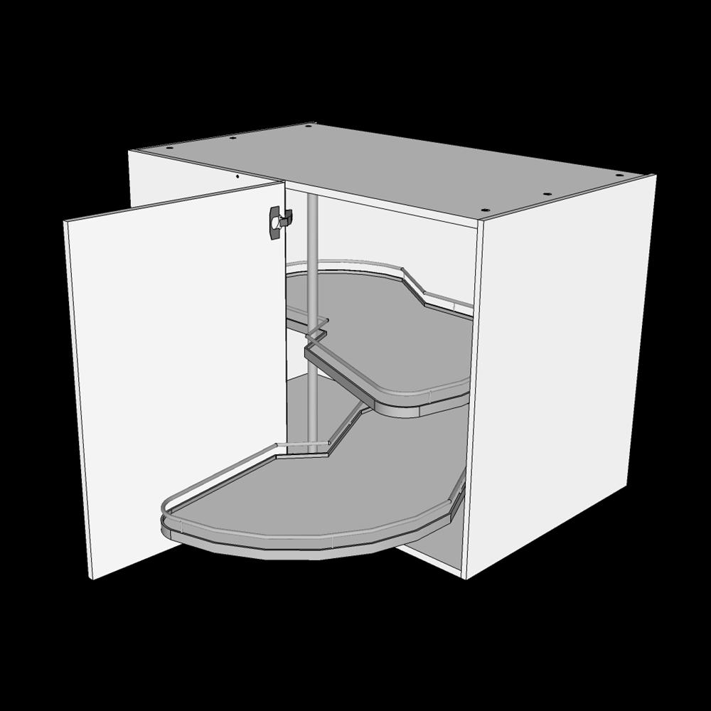 Image of   Hjørneskab H: 70,4 cm D: 60,0 cm - La mans karrusel