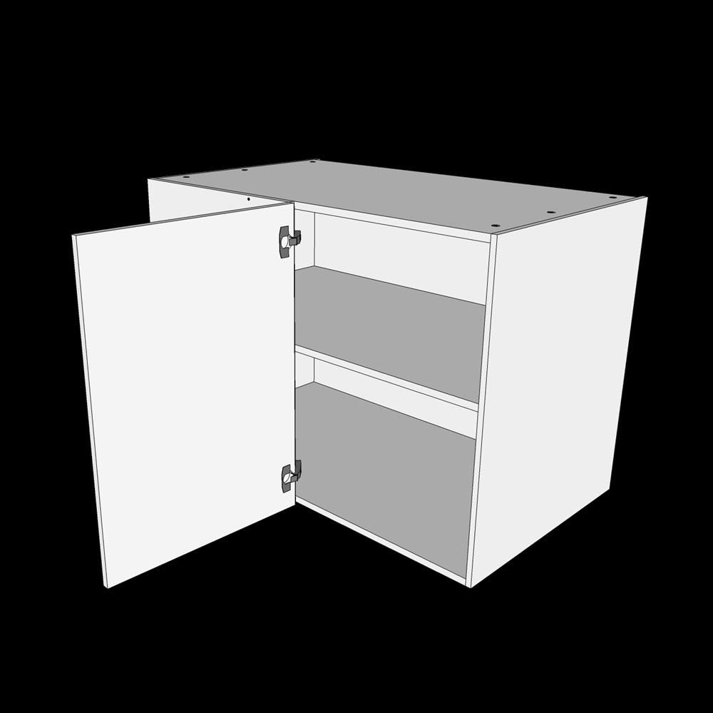 Image of   Hjørneskab H: 70,4 cm D: 60,0 cm - 1 låge inklusiv 1 hylde samt blændplade