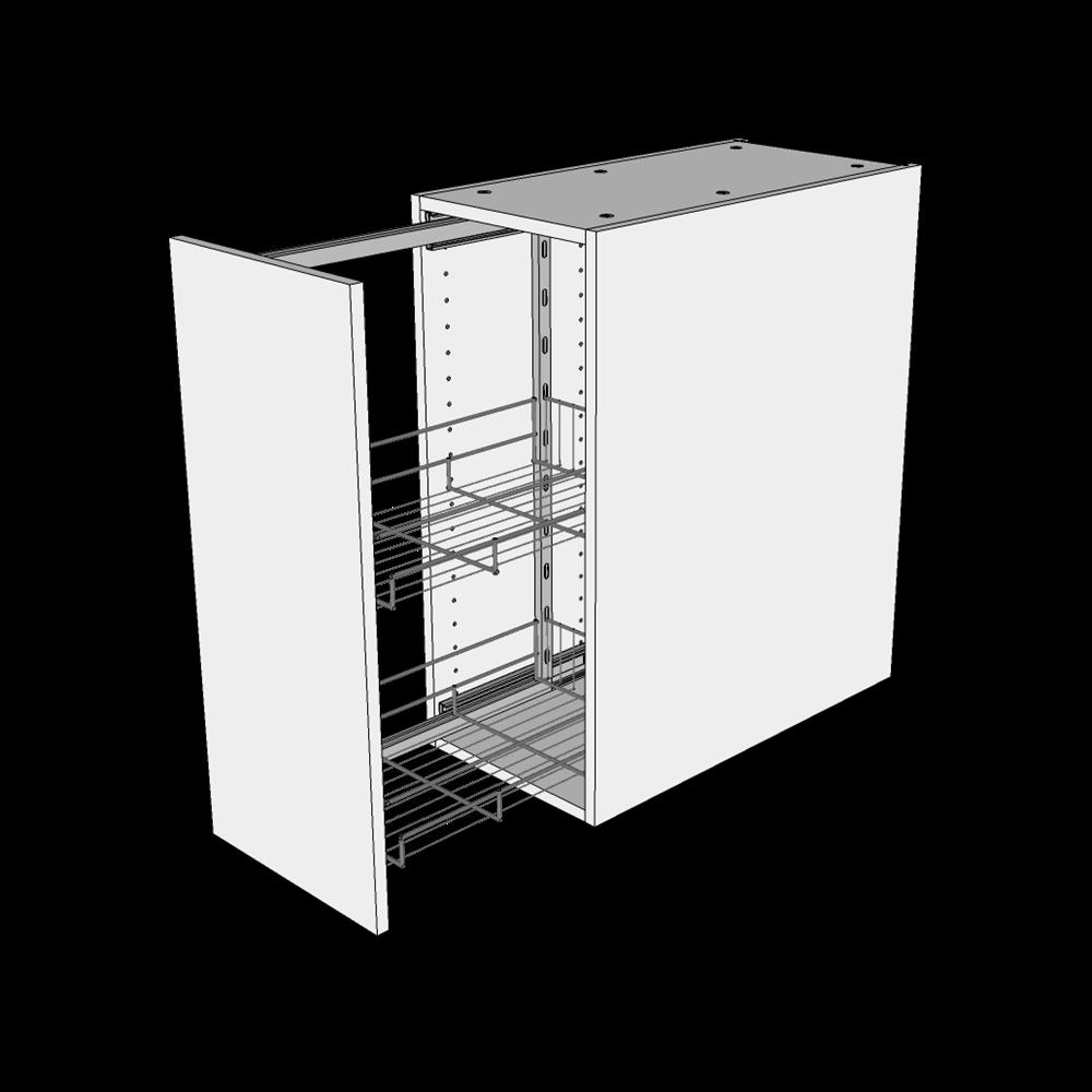 Image of   Opbevaringsskab H: 70,4 cm D: 60,0 cm - Inkluderet 2 trådkurve